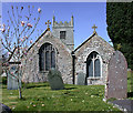 SW8661 : Saint Colan Church, Springtime. by Geoff Welding