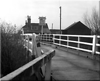 SU5766 : Woolhampton Swing Bridge and the Row Barge by Dr Neil Clifton