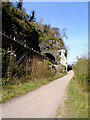 ST5673 : Cycle path and railway line under the Suspension Bridge by Linda Bailey