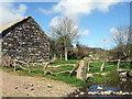 SM9038 : Trehilyn barn and stream by ceridwen