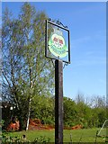 TR1158 : Upper Harbledown Village sign by Penny Mayes