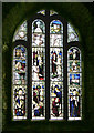 SS2015 : Church Window at St Morwenna and St John the Baptist's by Christina Burford
