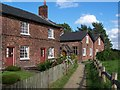 SJ8383 : Cottages and path, Styal village by David Martin