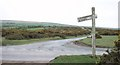 SX1174 : Old signpost at a T-junction by Jon Coupland