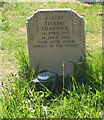 ST8586 : Gravestone of Titanic survivor, Sherston by Pauline Eccles