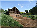 TL1044 : Barn renovation at Hillfoot Farm by Jeff Tomlinson