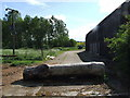 TL1044 : Blocked entrance to Hillfoot Farm by Jeff Tomlinson