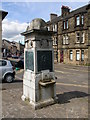 "Dist:0.6km<br/>This memorial is located in Industry Street, and is in memory of the Dalrymples, and erected in 1905. The inscription reads; ""Presented to the town of Kirkintilloch by James D G Dalrymple of Woodhead. Senior Magistrate of the burgh of Barony of Kirkintilloch. 1905"".