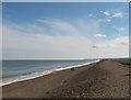 TG0545 : Cley beach - the shingle ridge by Pauline E