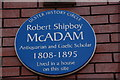 Photo of Robert Shipboy McAdam blue plaque