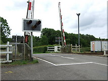 SN3318 : Railway crossing, Sarnau by Gethin Evans