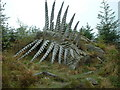 SD3495 : Wood sculpture in Grizedale Forest by Adie Jackson