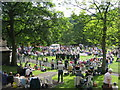 SD9905 : Whit Friday in Uppermill Park by Paul Anderson