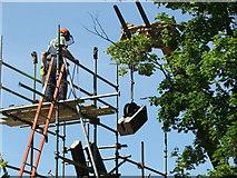 SU2263 : Dismantling Burbage Wharf Crane - 2007 by Maurice Pullin
