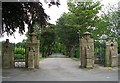 SE1332 : Entrance to Scholemoor Cemetery & Crematorium by Betty Longbottom