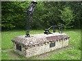 TF9828 : Ploughman statue, Stibbard village green by Nigel Jones