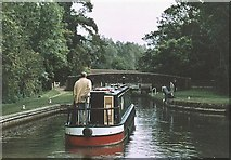SU4267 : Hamstead Lock and Bridge K&A Canal - 2004 by Maurice Pullin
