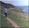 SW4524 : Coast path at Kemyel Point by Trevor Rickard