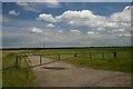TL7289 : Gated farm track by Bob Jones
