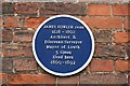 Photo of James Fowler blue plaque