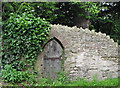 SO6918 : Small door in old stone wall by Pauline Eccles