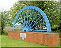 SE4205 : Memorial pit headgear wheel. by Steve  Fareham