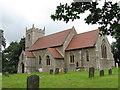TF9519 : St Mary's church, East Bilney by Evelyn Simak