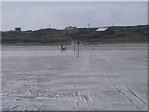 L5756 : Causeway to Omey Island across the Strand by Keith Salvesen