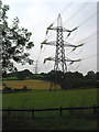 SO6923 : Power lines near Oaks Lane by Pauline Eccles