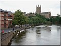 SO8454 : Riverside at Worcester by Trevor Rickard