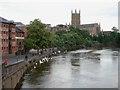 SO8454 : Riverside at Worcester by Trevor Rickard