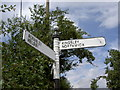 SJ5474 : Old Signpost. by David Quinn