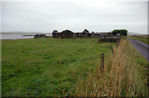 HY2917 : Old house by shore of Harray Loch by John Comloquoy