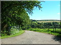 SX0672 : Road to Helligan Barton by William Bartlett