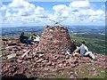 SO0620 : Rebuilt Carn Pica on Waun Rydd by Nigel Davies