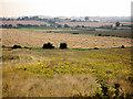 SE4303 : Harvest safely gathered in. Billingley Green in background. by Steve  Fareham