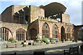 SP3379 : View from inside the ruins of Coventry Cathedral by Niki Walton