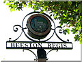 TG1642 : Beeston Regis - village sign by Evelyn Simak