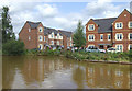 SJ7659 : New canal-side Housing, Malkins Bank, Cheshire by Roger  Kidd