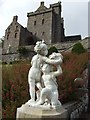 NN8418 : Classical sculpture at Drummond Castle by Jonathan Billinger