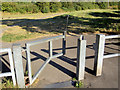 SE3707 : Gate to Trans Pennine Trail. by Steve  Fareham