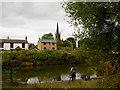 SE3800 : Fishing in the Elsecar canal basin. by Steve  Fareham