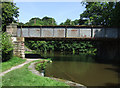 SJ9065 : Old Railway Bridge crossing the Macclesfield Canal at Bosley, Cheshire by Roger  Kidd