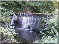 ST6854 : Waterfall near St. Nicholas Church, Radstock, Somerset by Nigel Shoosmith
