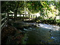 SK1258 : Footbridge over River Dove by Alan Heardman