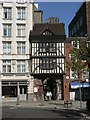 TQ3181 : City of London: entranceway to St. Bartholomew the Great by Chris Downer