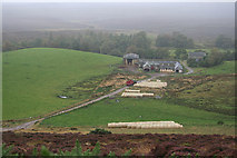NH9941 : Kerrow Farm with the rain fast approaching from the west. by Des Colhoun