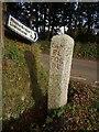 SX3074 : Stone signpost, Halwinnick Butts by Derek Harper