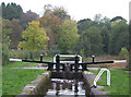 SJ9151 : Caldon Canal at Stockton Brook Top Lock, Staffordshire by Roger  Kidd