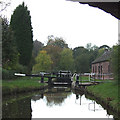 SJ9151 : Stockton Brook Top Lock,  Caldon Canal, Staffordshire by Roger  Kidd